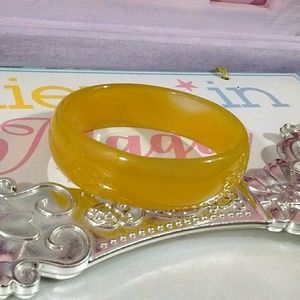 Other - Natural Yellow Jade Bangle bracelet for a child